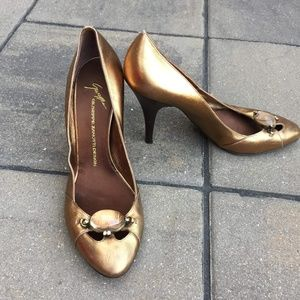 Vintage Guiseppe Zanotti Heels Bronze 10